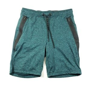 American eagle mens green and black stretch shorts
